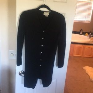 Long wool button up sweater